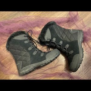 COLUMBIA WATERPROOF HEAT FAUX FUR QUILTED Boots